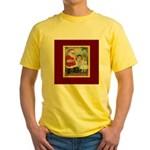 Traditional Santa With Children Yellow T-Shirt
