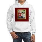 Traditional Santa With Children Hooded Sweatshirt