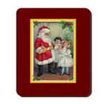 Traditional Santa With Children Mousepad