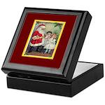 Traditional Santa With Children Keepsake Box