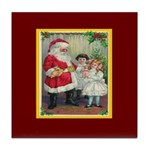Traditional Santa With Children Tile Coaster