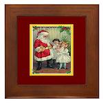 Traditional Santa With Children Framed Tile