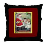 Traditional Santa With Children Throw Pillow