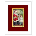 Traditional Santa With Children Small Poster