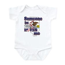 someone in Illinois loves me Infant Bodysuit