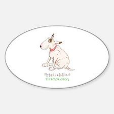 Bull Terrier Rescue Sticker (Oval)