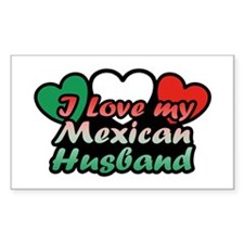 I Love My Mexican Husband Decal