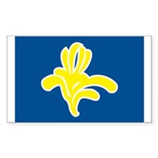 Brussels Flag Rectangle Decal