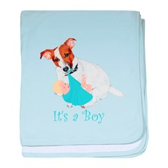 Jack Russell, It's A Boy Gifts baby blanket