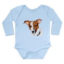 Jack Russell Portrait Long Sleeve Infant Bodysuit