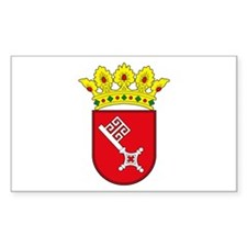 Bremen Coat of Arms Rectangle Decal