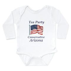 Tea Party Arizona Long Sleeve Infant Bodysuit