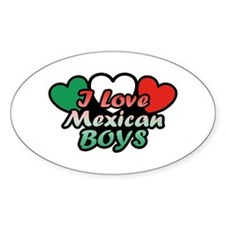 I Love Mexican Boys Decal