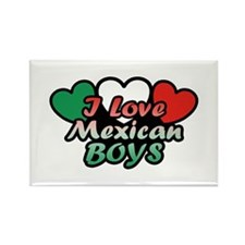 I Love Mexican Boys Rectangle Magnet
