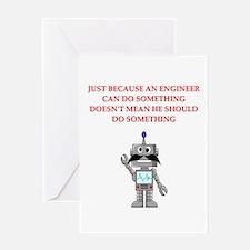 engineering joke Greeting Card