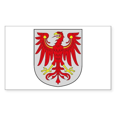Brandenburg Coat of Arms Rectangle Sticker