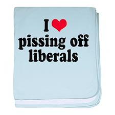 Anti-liberal I heart baby blanket