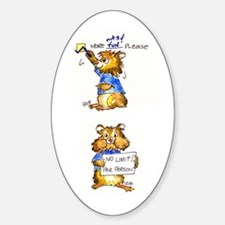 Abrahamster in Alaska Oval Decal