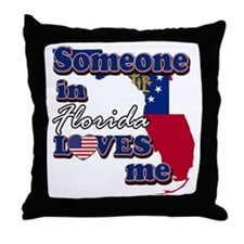 someone in Florida loves me Throw Pillow