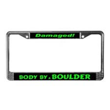 Green Boulder License Plate Frame
