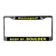 Yellow Boulder License Plate Frame