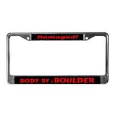 Red Boulder License Plate Frame