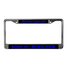 Blue Boulder License Plate Frame