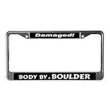 White Boulder License Plate Frame
