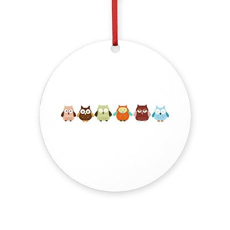 Owls Ornament (Round)