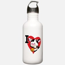 I Love Cows Water Bottle