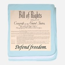 Bill of Rights baby blanket