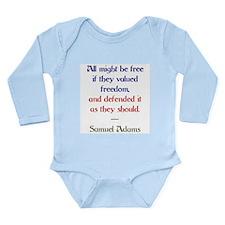 value freedom Long Sleeve Infant Bodysuit