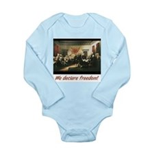 We declare freedom! Long Sleeve Infant Bodysuit