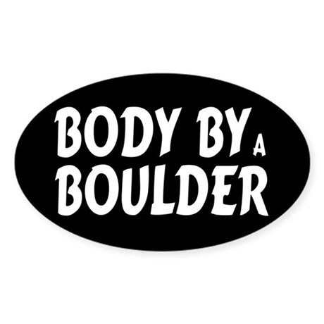 Body by Boulder Oval Sticker