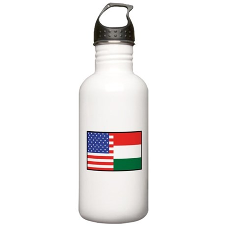 USA/Hungary Stainless Water Bottle 1.0L