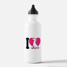 I Love Unicorns Water Bottle