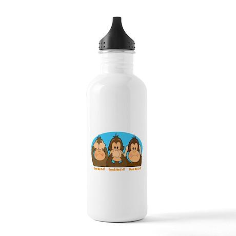 See,Speak,Hear No Evil Stainless Water Bottle 1.0L
