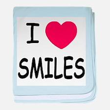 I heart smiles baby blanket