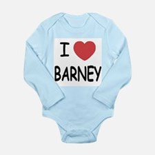 I heart Barney Long Sleeve Infant Bodysuit