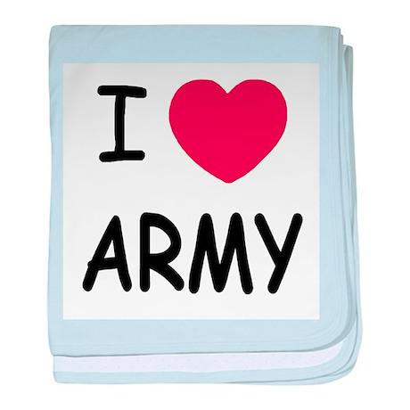 I heart Army baby blanket