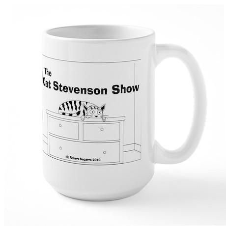 tshirt design cat stevenson cartoon bw Mugs