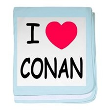 I heart Conan baby blanket
