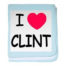 I heart Clint baby blanket
