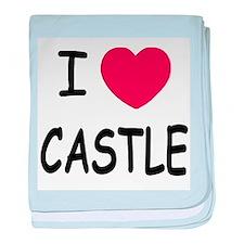 I heart Castle baby blanket