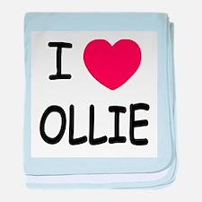 I heart Ollie baby blanket