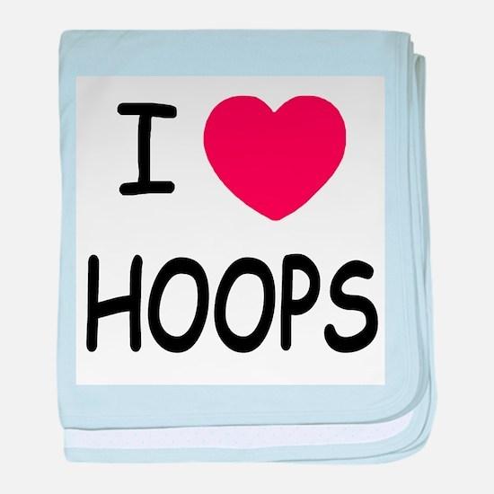 I love hoops baby blanket