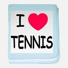 I heart tennis baby blanket