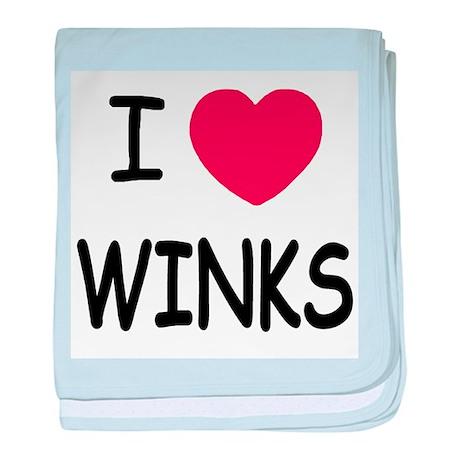 I heart winks baby blanket