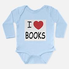 I heart books Long Sleeve Infant Bodysuit