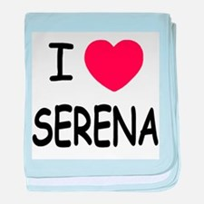 I heart serena baby blanket